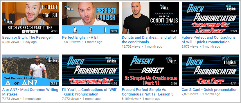 فيديوهات لتعليم الإنجليزية